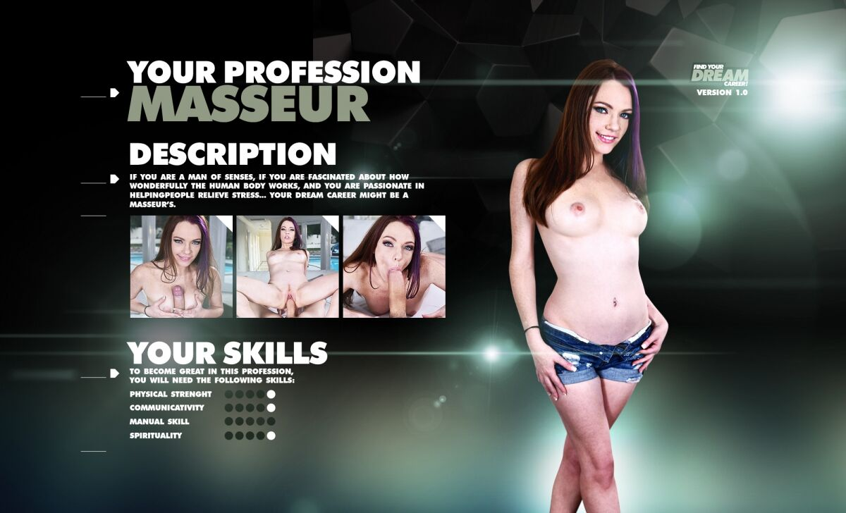 Brunette secretary hardcore and facial